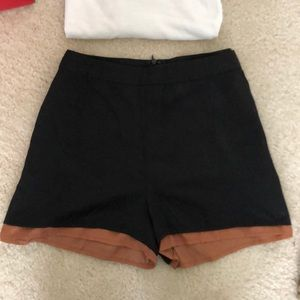 Ark & Co Shorts - Black & Brown lined shorts with Heart Pockets